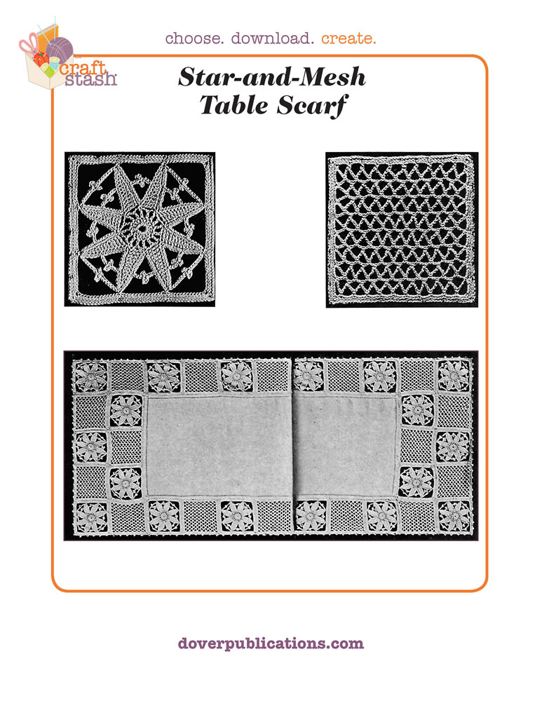 Star-and-Mesh Table Scarf (digital pattern)