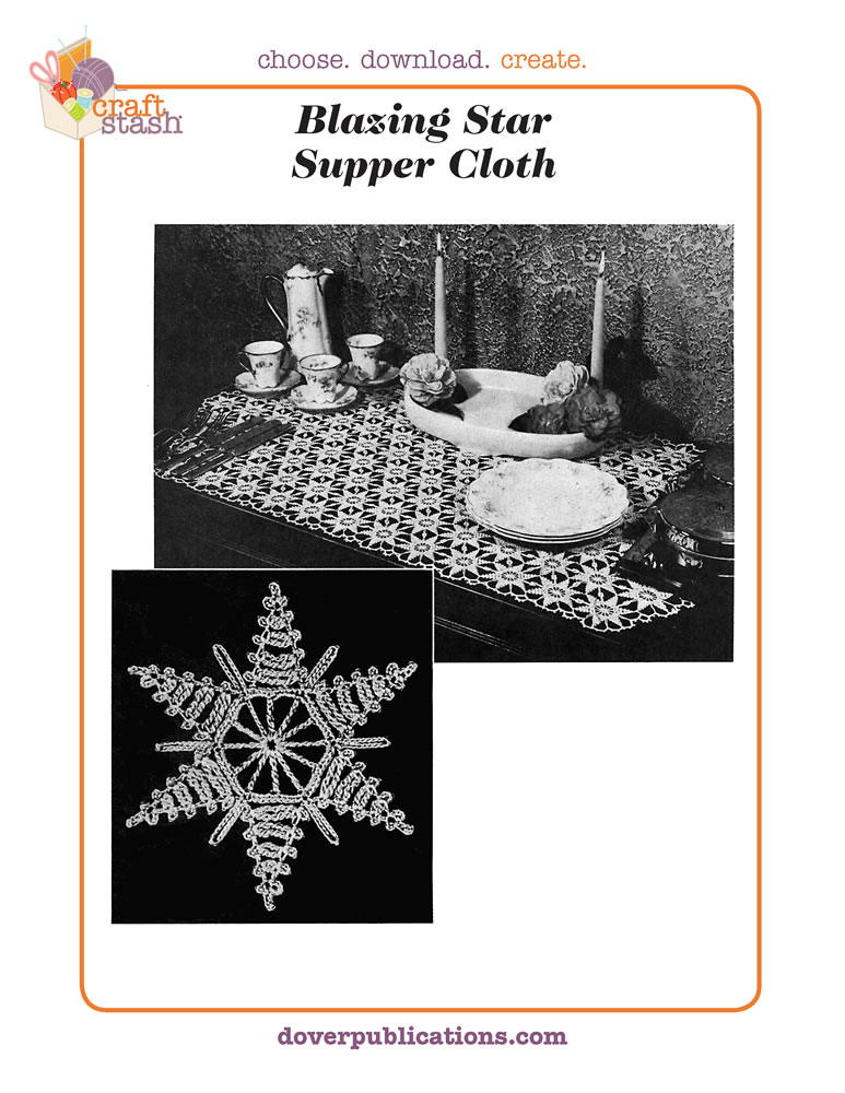 Blazing Star Supper Cloth (digital pattern)
