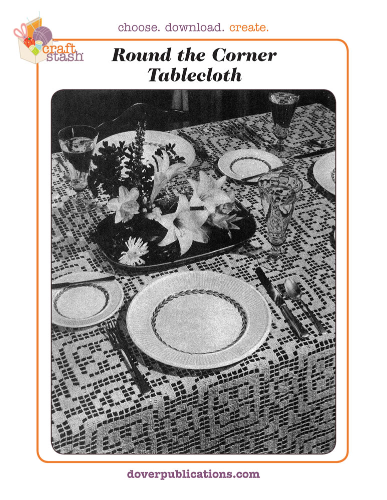 Round the Corner Tablecloth (digital pattern)
