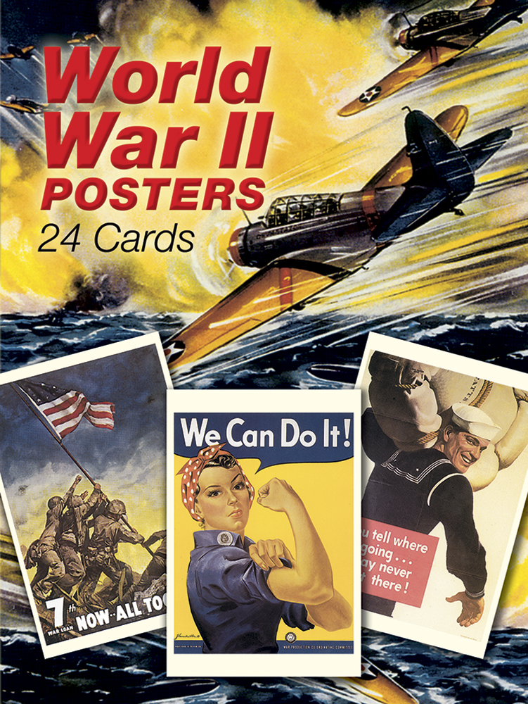 World War II Posters: 24 Cards
