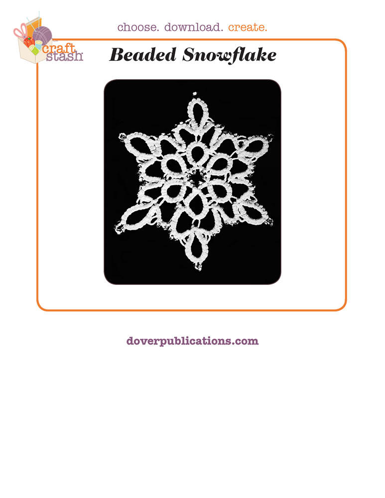 Beaded Snowflake (digital pattern)