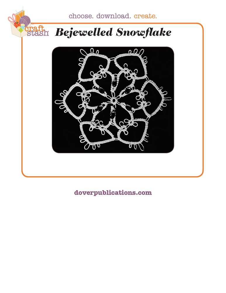 Bejewelled Snowflake (digital pattern)