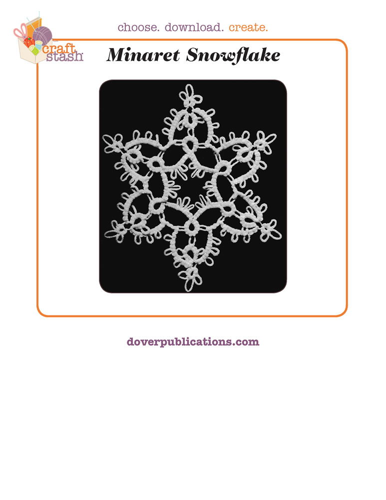Minaret Snowflake (digital pattern)