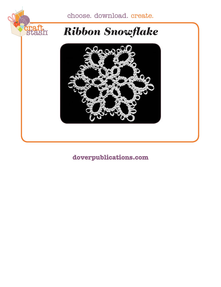 Ribbon Snowflake (digital pattern)
