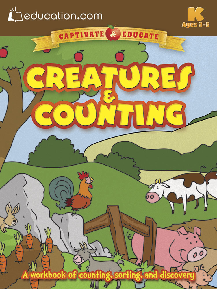 Creatures & Counting: A workbook of counting, sorting, and discovery