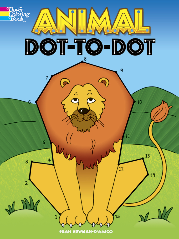 Animal Dot-to-Dot Coloring Book