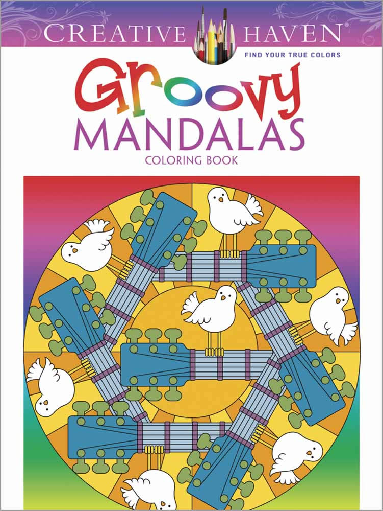 Creative Haven Groovy Mandalas Coloring Book
