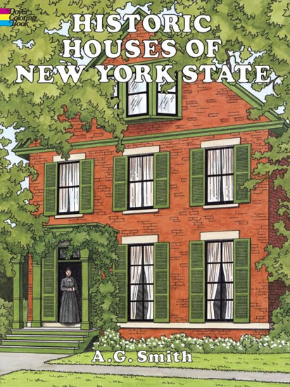 Historic Houses of New York State Coloring Book