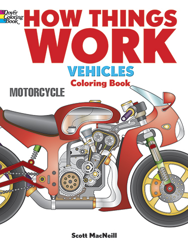 How Things Work -- Vehicles Coloring Book