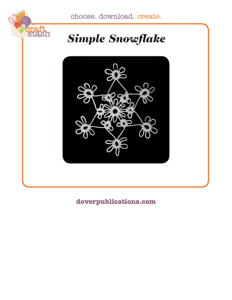 Simple Snowflake (digital pattern)
