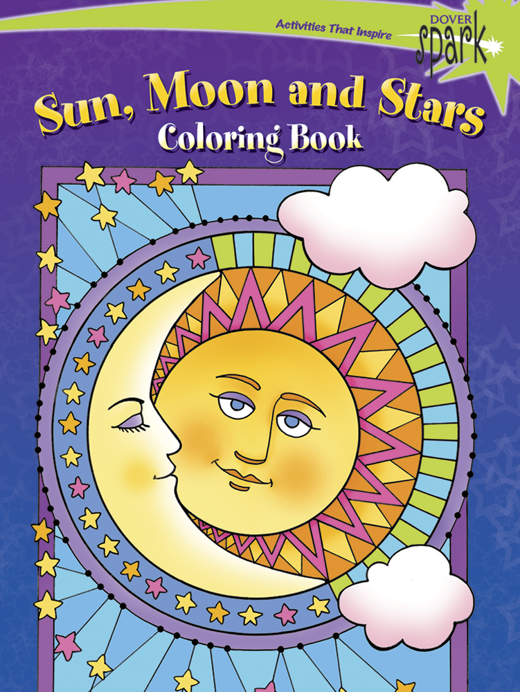 SPARK Sun, Moon and Stars Coloring Book