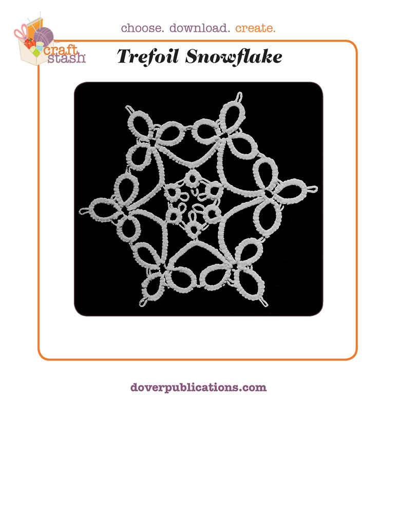 Trefoil Snowflake (digital pattern)