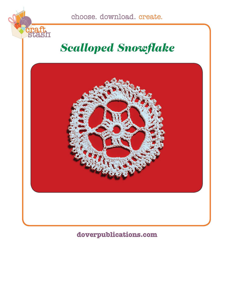 Scalloped Snowflake (digital pattern)