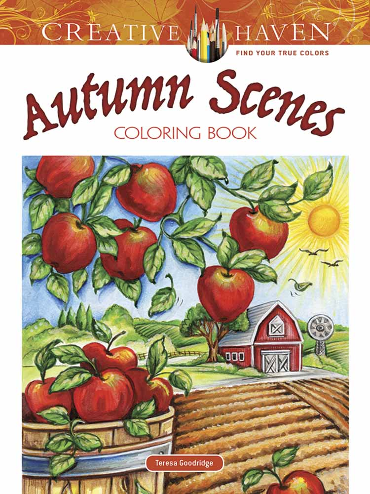 Creative Haven Autumn Scenes Coloring Book