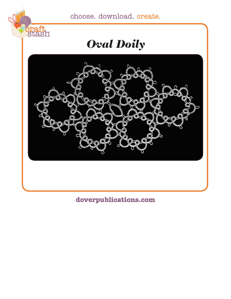 Oval Doily (digital pattern)