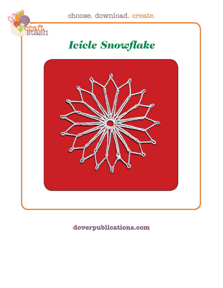 Icicle Snowflake (digital pattern)