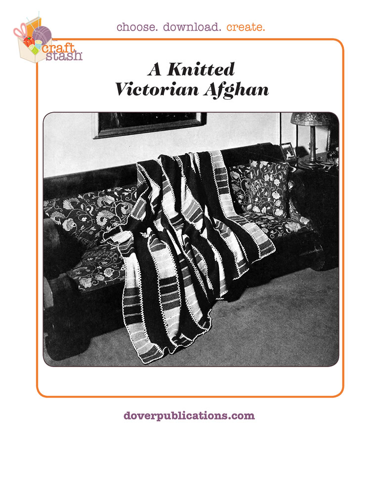 A Knitted Victorian Afghan (digital pattern)