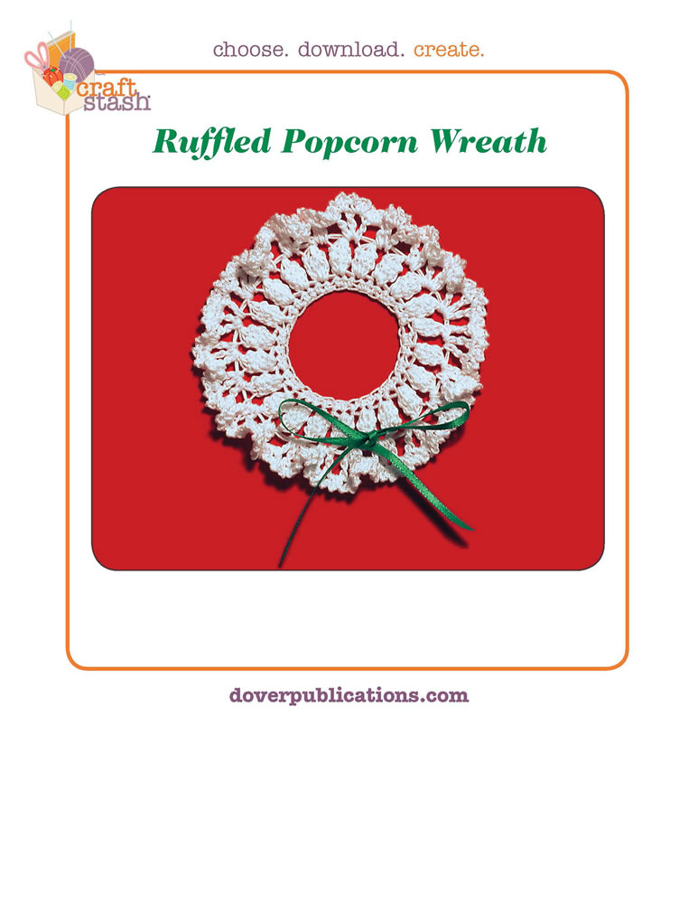 Ruffled Popcorn Wreath (digital pattern)