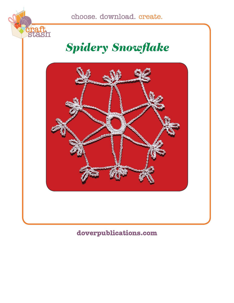 Spidery Snowflake (digital pattern)