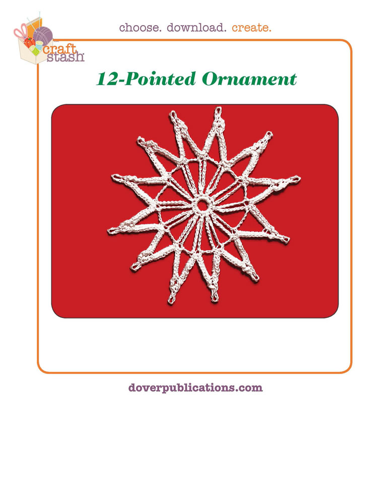 12-Pointed Ornament (digital pattern)