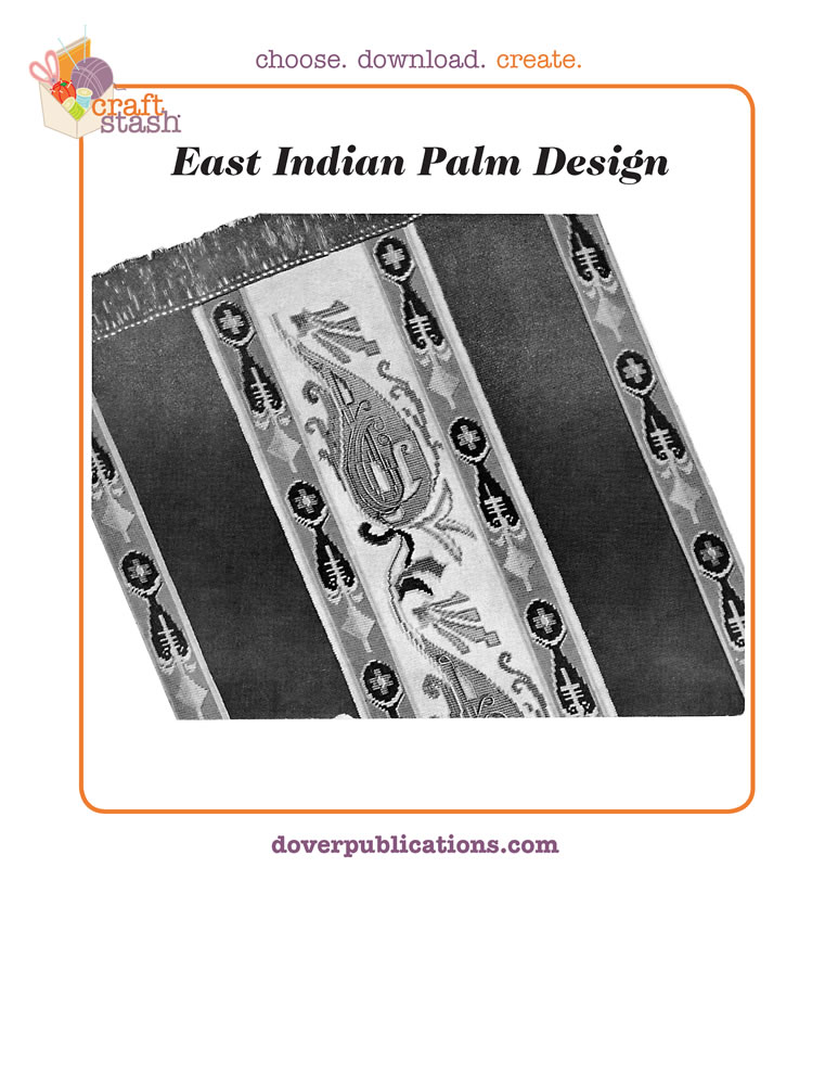 East Indian Palm Design (digital pattern)
