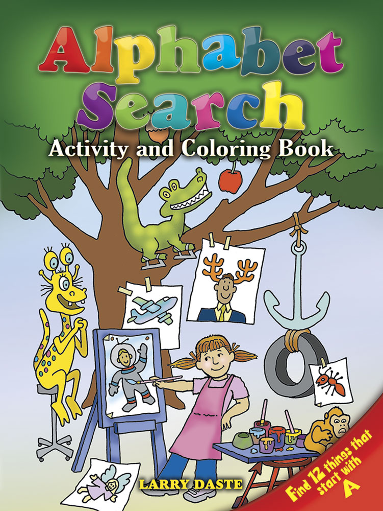 Alphabet Search: Activity and Coloring Book