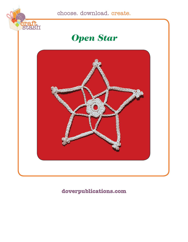 Open Star (digital pattern)
