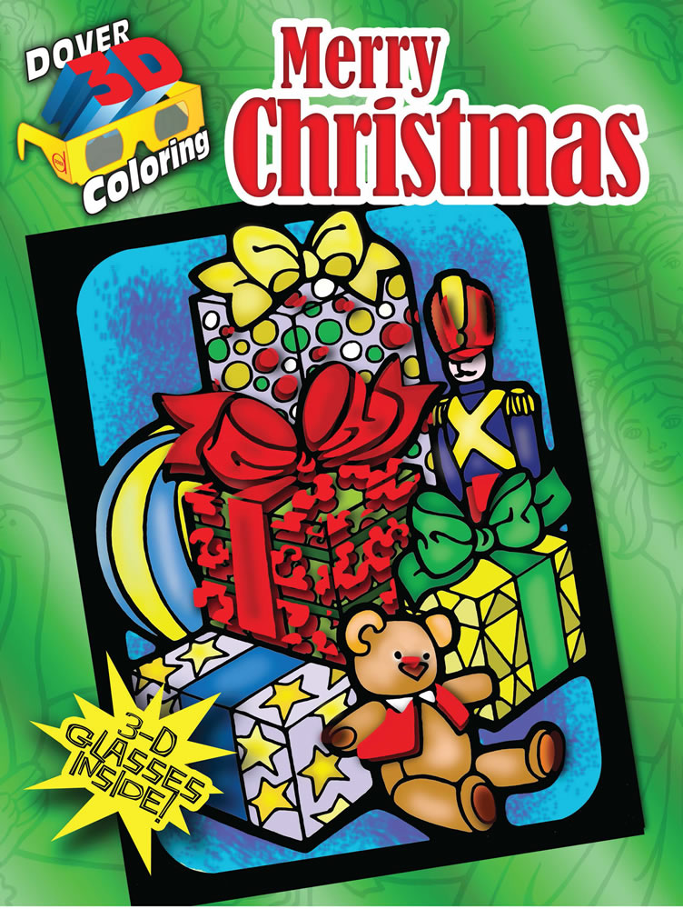 3-D Coloring Book--Merry Christmas