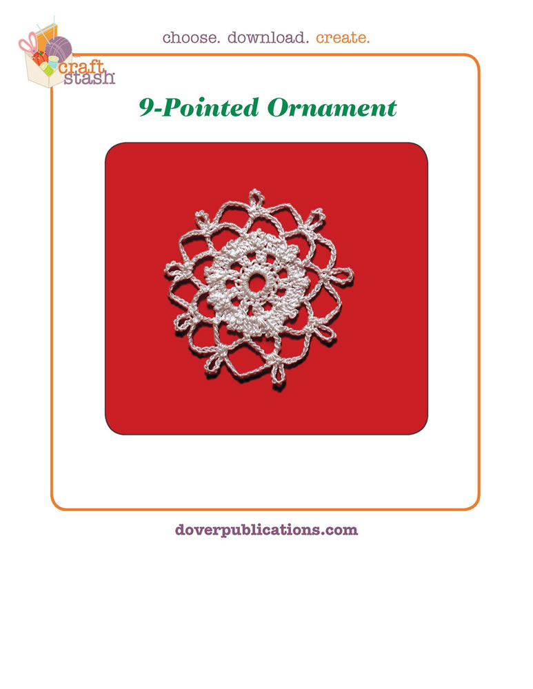 9-Pointed Ornament (digital pattern)