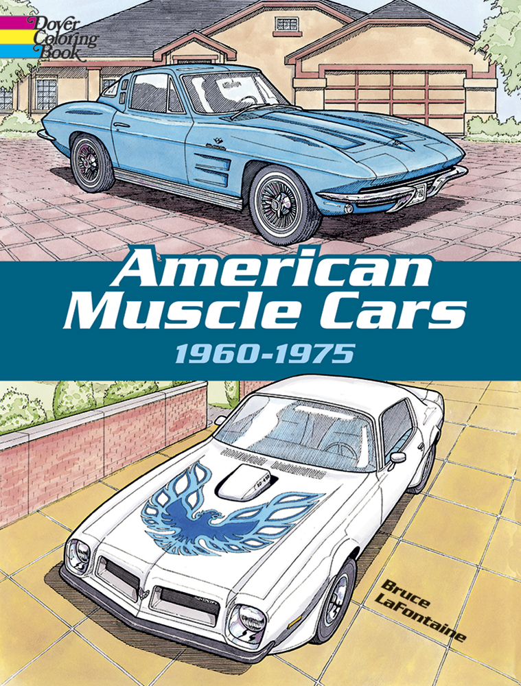 American Muscle Cars, 1960-1975 Coloring Book