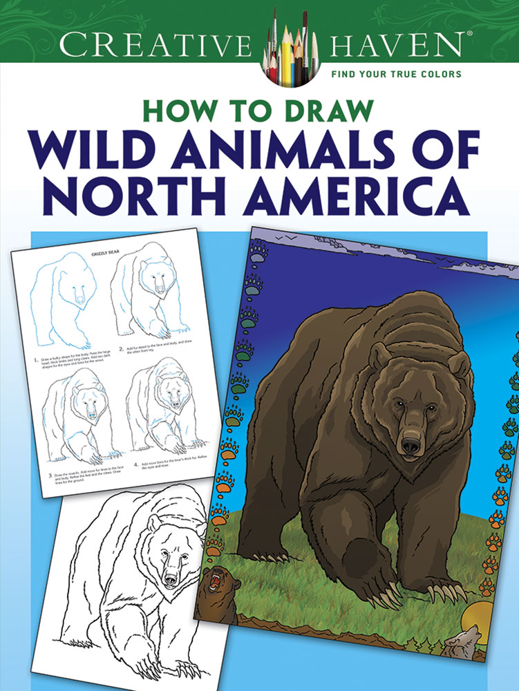 Creative Haven How to Draw Wild Animals of North America Coloring Book