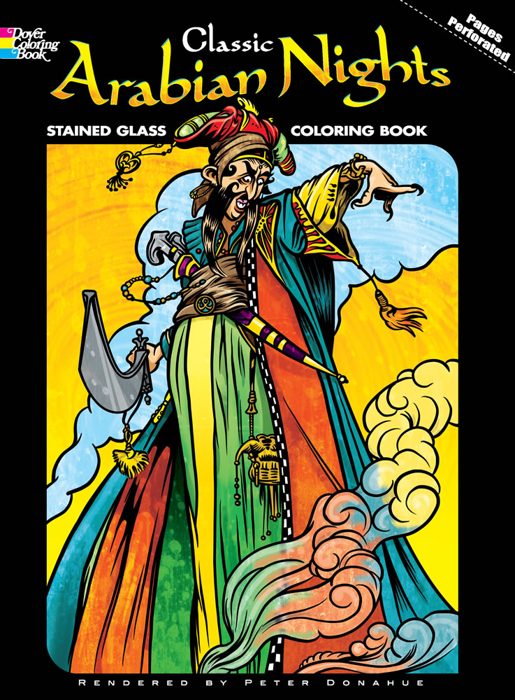 Classic Arabian Nights Stained Glass Coloring Book