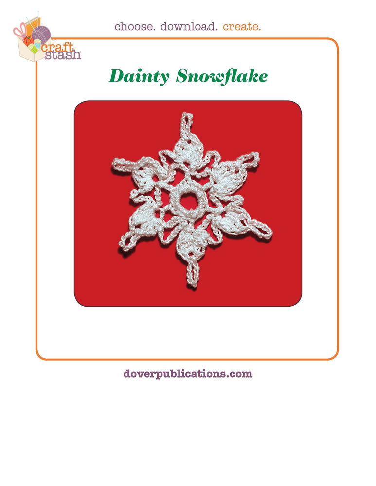 Dainty Snowflake (digital pattern)