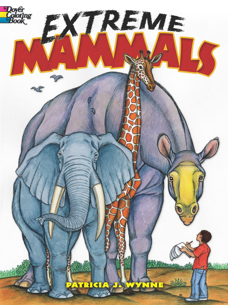 Extreme Mammals Coloring Book