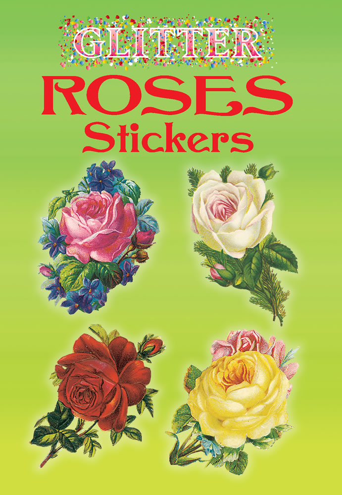 Glitter Roses Stickers