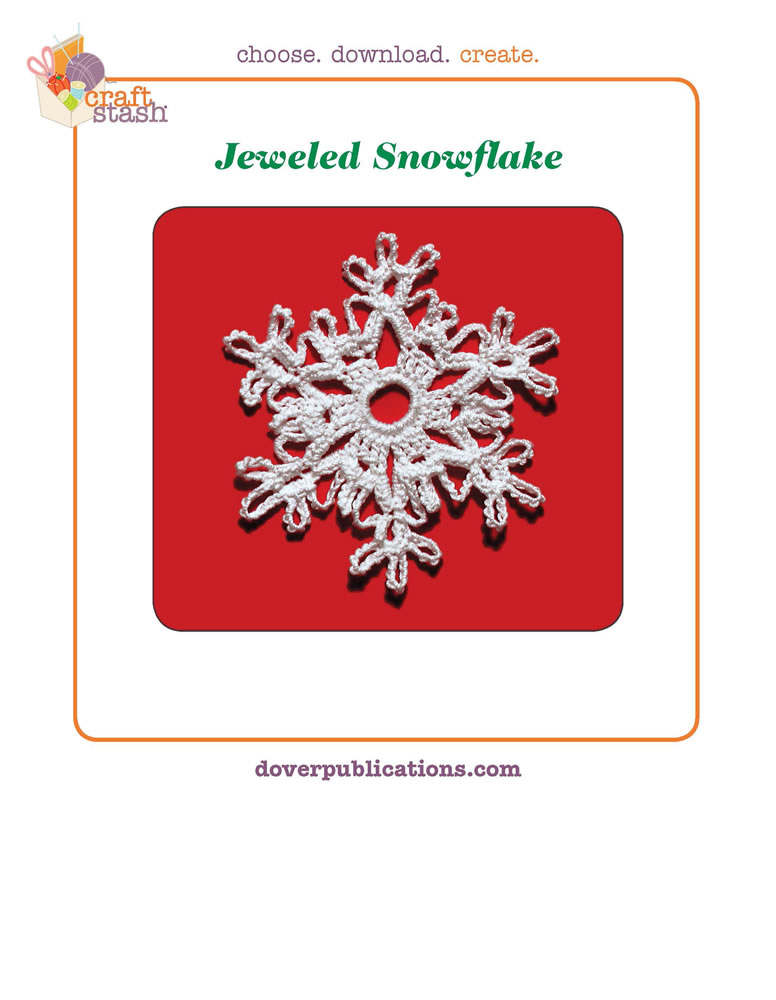 Jeweled Snowflake (digital pattern)