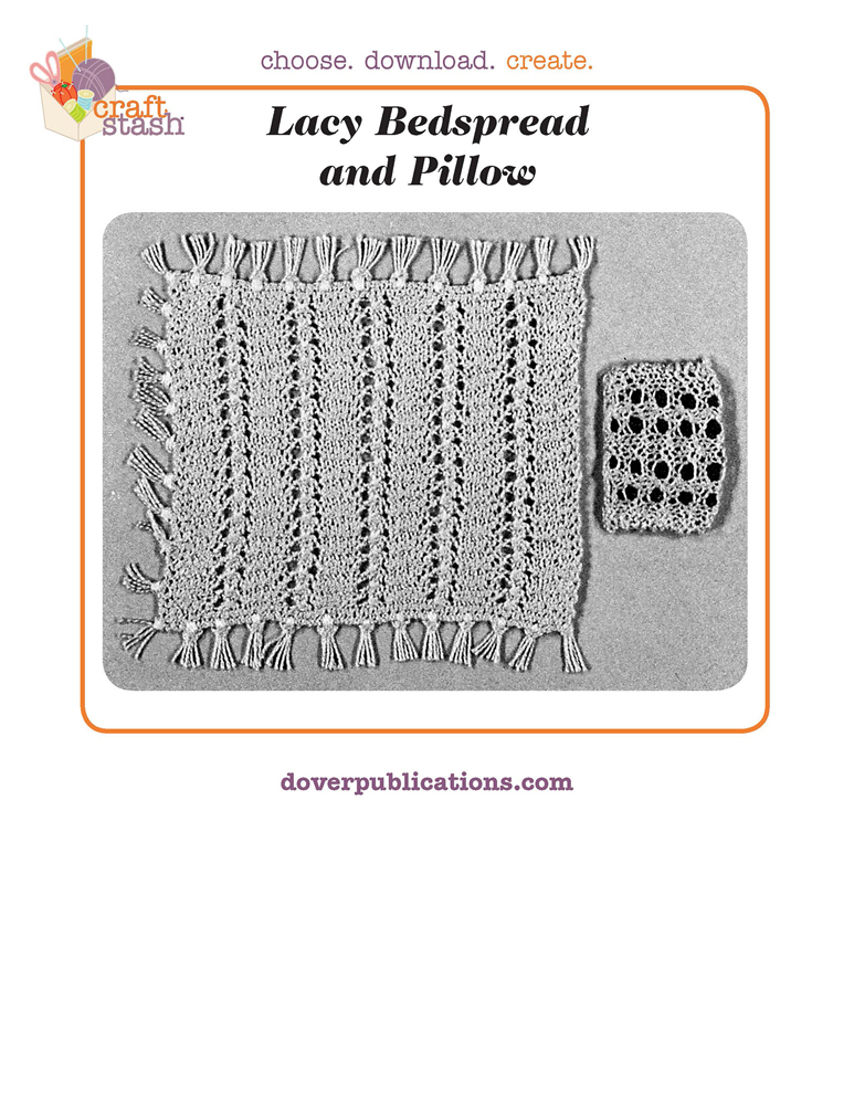 Lacy Bedspread and Pillow (digital pattern)