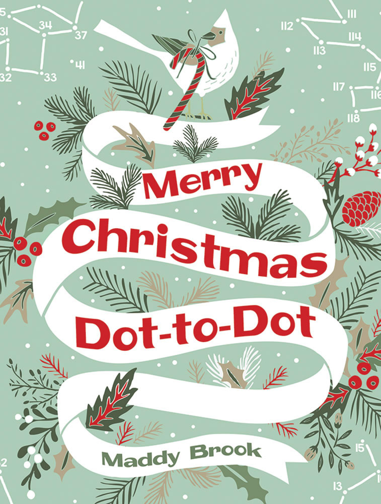 Merry Christmas Dot-to-Dot Coloring Book