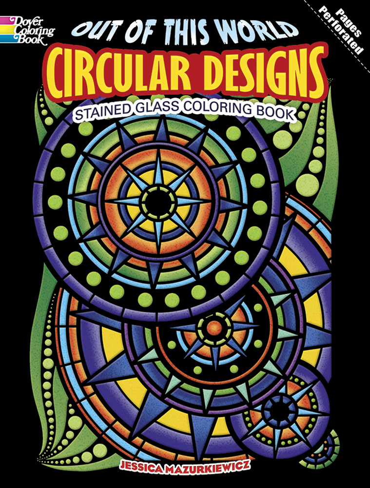 Out of This World Circular Designs Stained Glass Coloring Book
