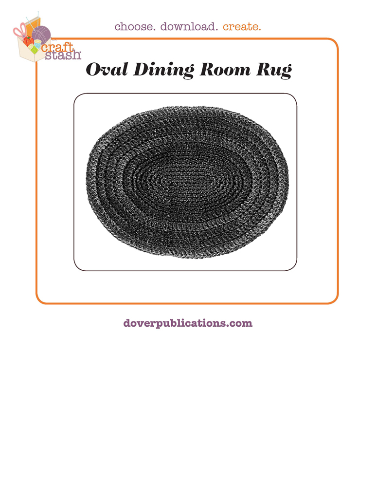 Oval Dining Room Rug (digital pattern)