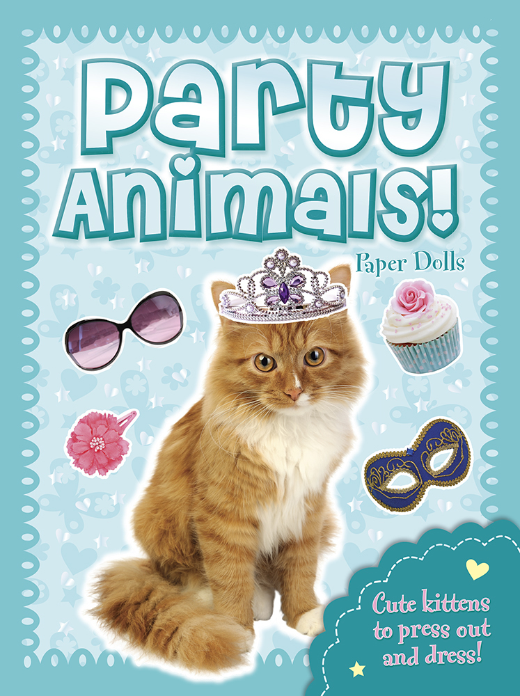Party Animals! -- Kitten Paper Dolls