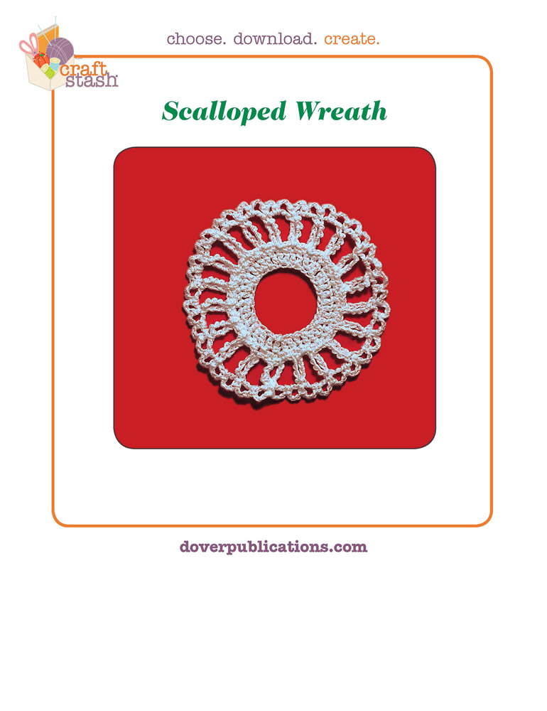 Scalloped Wreath (digital pattern)