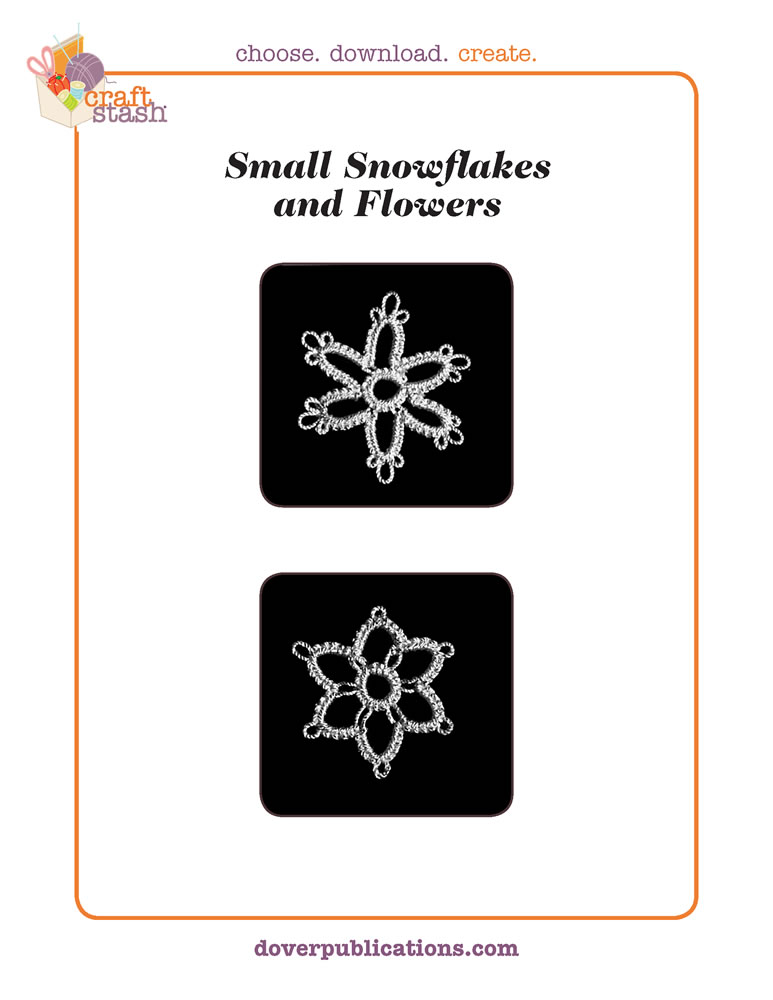 Small Snowflakes and Flowers (digital pattern)