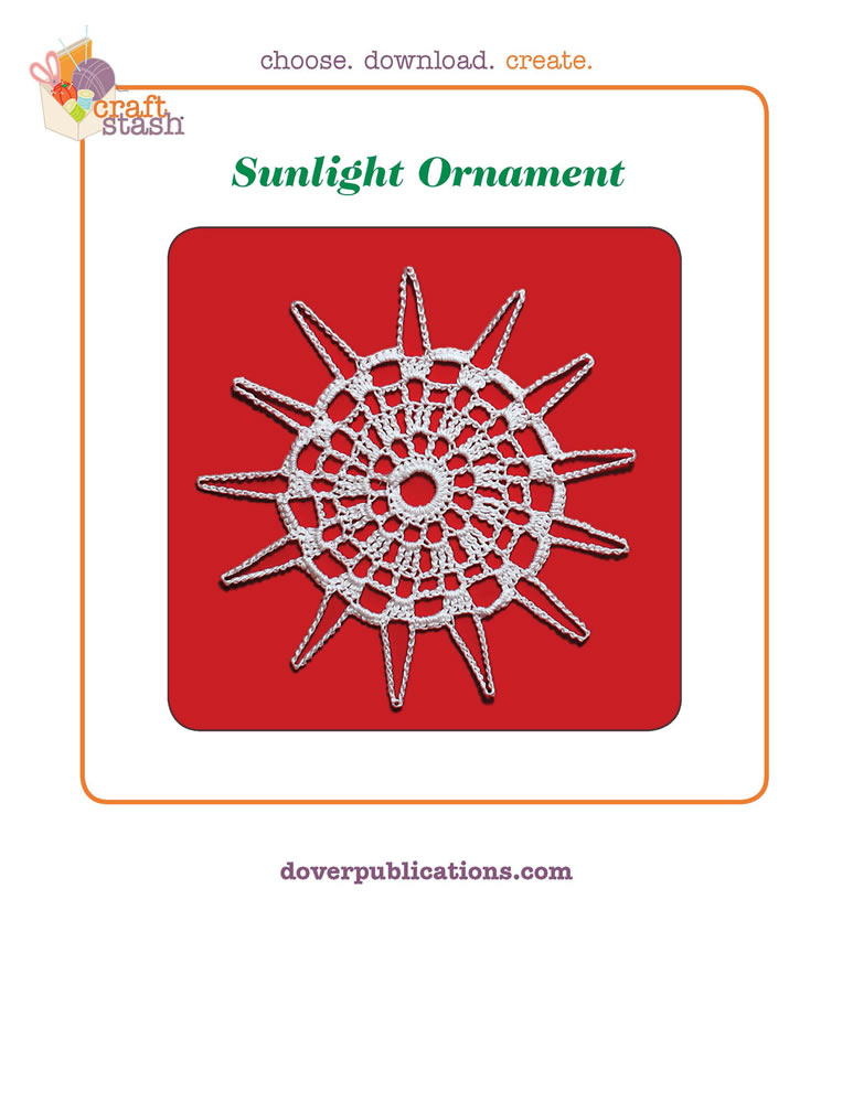 Sunlight Ornament (digital pattern)