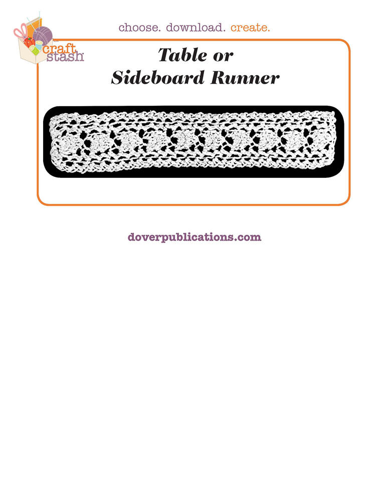 Table or Sideboard Runner (digital pattern)