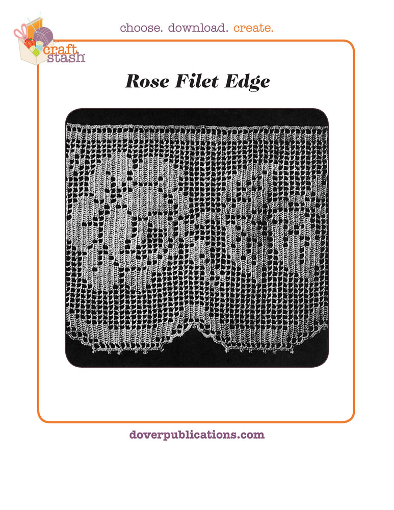 Rose Filet Edge (digital pattern)