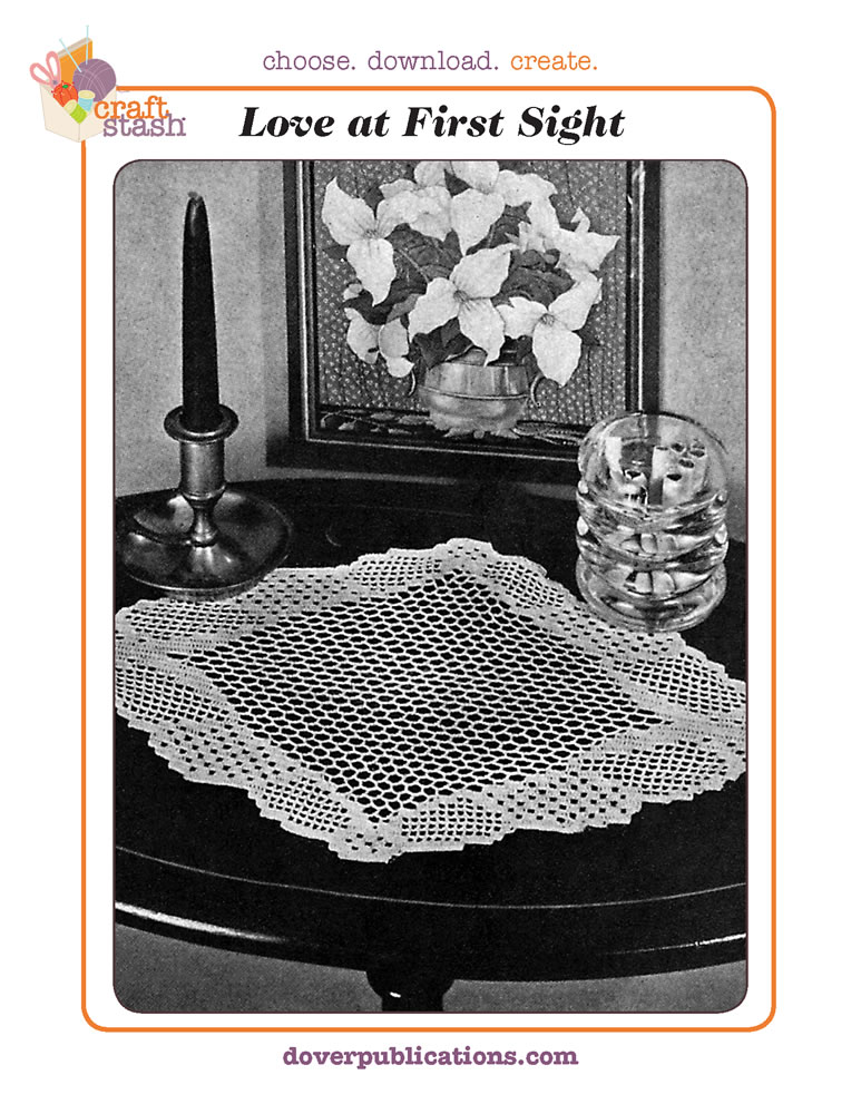 Love at First Sight Doily (digital pattern)