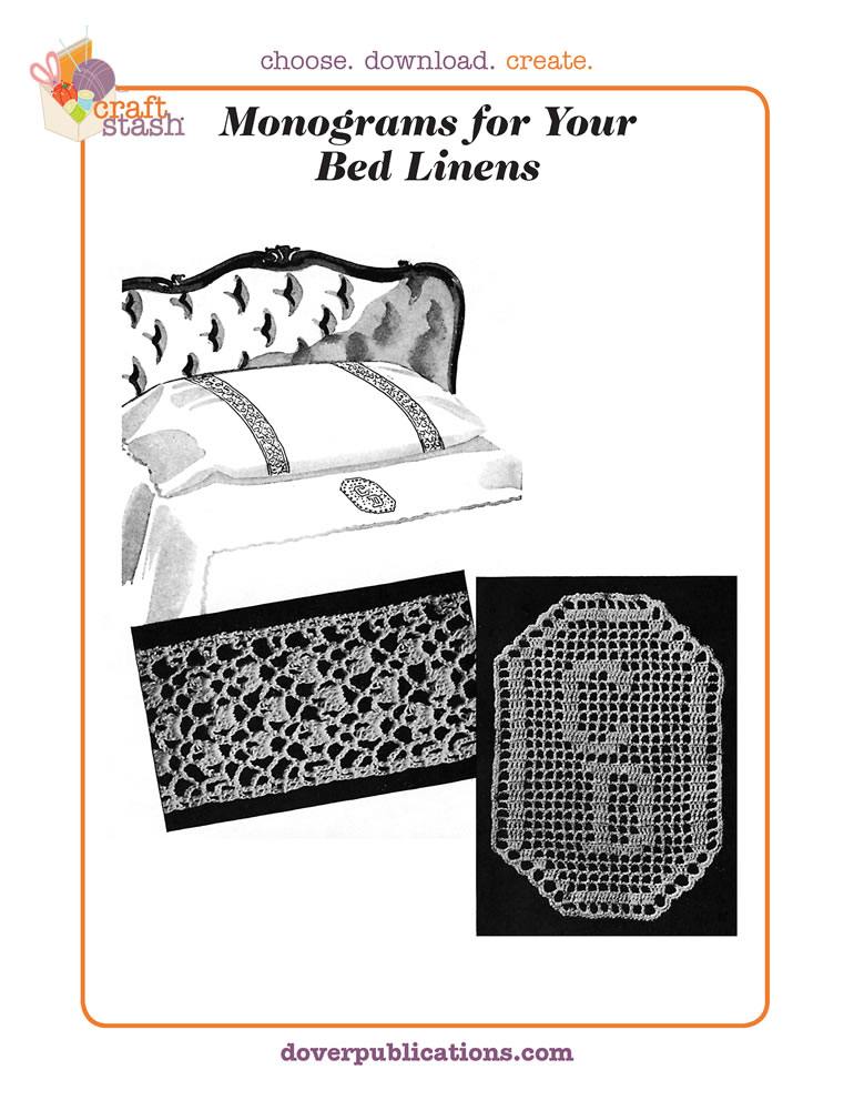 Monograms for your Bed Linens (digital pattern)