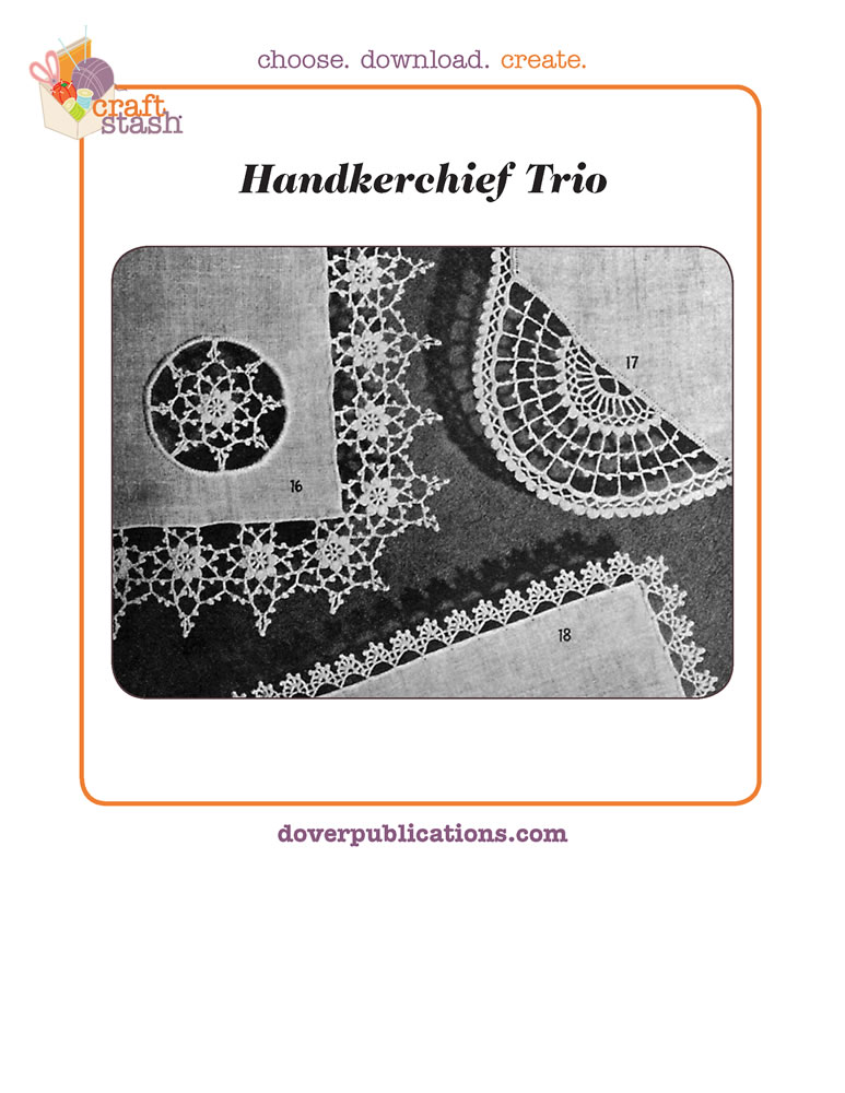 Handkerchief Trio (digital pattern)
