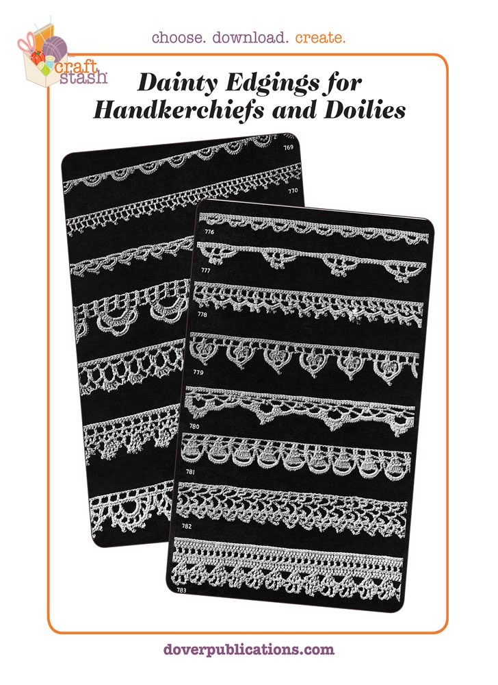 Dainty Edgings for Handkerchiefs and Doilies (digital pattern)
